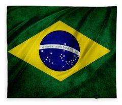 Brazilian Flag Fleece Blanket
