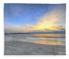 Breach Inlet Sunrise Fleece Blanket