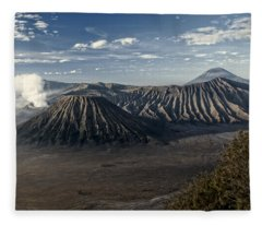 Bromo Mountain Fleece Blanket