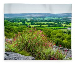 Burren National Park's Lovely Vistas Fleece Blanket