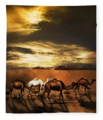 Camels Fleece Blanket