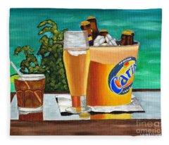 Caribbean Beer Fleece Blanket