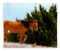 Carrot Island Pony Fleece Blanket