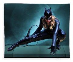 The Feline Fatale Fleece Blanket