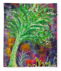 Celery Tree Fleece Blanket