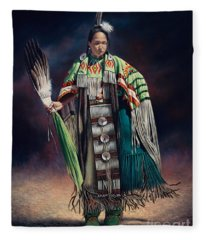 Ceremonial Rhythm Fleece Blanket