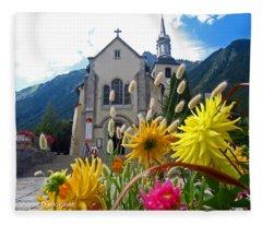 Chamonix Church Fleece Blanket