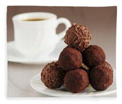 Chocolate Truffles And Coffee Fleece Blanket
