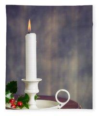 Christmas Candle Fleece Blanket
