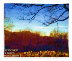 1 Chronicles 29 15 Fleece Blanket