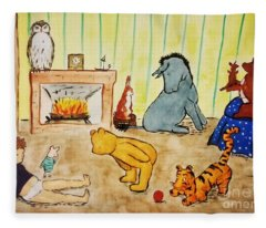 Classic Winnie The Pooh And Friends Fleece Blanket