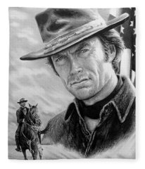Clint Eastwood American Legend Fleece Blanket