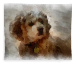 Cocker Spaniel Photo Art 01 Fleece Blanket