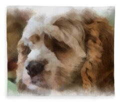Cocker Spaniel Photo Art 02 Fleece Blanket