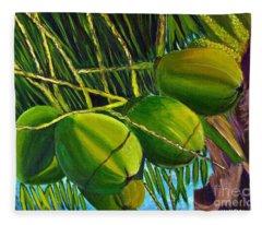 Coconuts At Sunset Fleece Blanket
