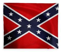 Confederate Flag 5 Fleece Blanket