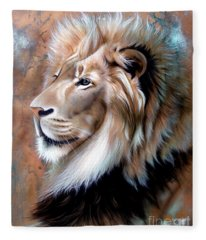 Copper King - Lion Fleece Blanket