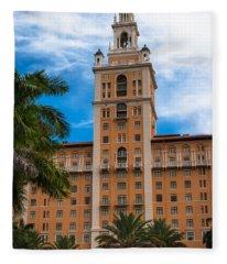 Coral Gables Biltmore Hotel Fleece Blanket