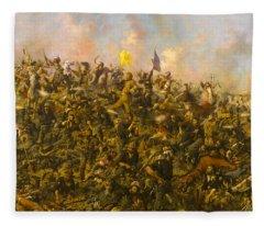 Custers Last Stand Fleece Blanket