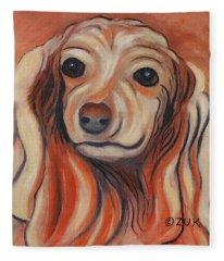 Daschound Fleece Blanket