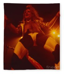 David Lee Roth - Van Halen At The Oakland Coliseum 12-2-1978 Rare Unreleased Fleece Blanket