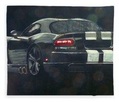 Dodge Viper 2 Fleece Blanket