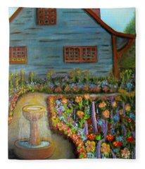 Dream Garden Fleece Blanket