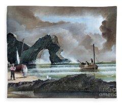 Durdle Door - Dorset Fleece Blanket