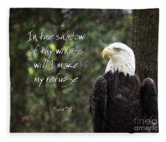 Eagle Scripture Fleece Blanket