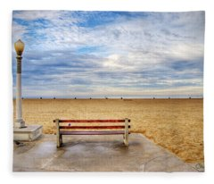 Early Morning At The Beach Fleece Blanket
