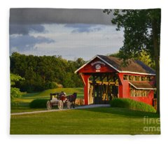 Essenhaus Covered Bridge Fleece Blanket