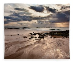 Evening At The Sea Fleece Blanket