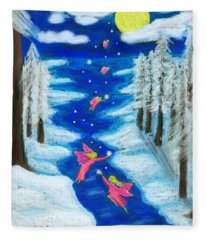 Faery Merry Christmas Fleece Blanket