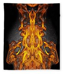 Fire Leather Fleece Blanket