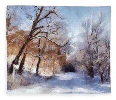 First Snowy Day Fleece Blanket