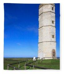 Flamborough Old Lighthouse Fleece Blanket