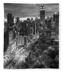 Flatiron District Birds Eye View Fleece Blanket