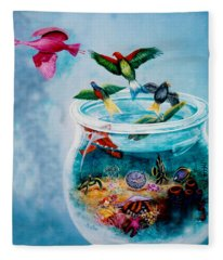 Flight To Freedom Fleece Blanket