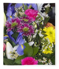 Floral Bouquet 2 Fleece Blanket