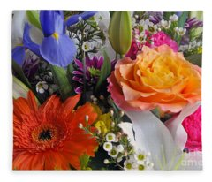 Floral Bouquet 5 Fleece Blanket