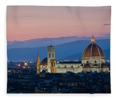 Florence At Sunset Fleece Blanket