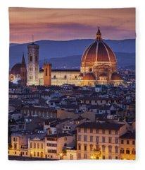 Florence Duomo Fleece Blanket