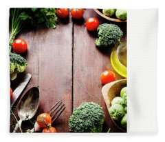 Food Ingredients Fleece Blanket