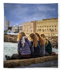 Foreign Students Cadiz Spain Fleece Blanket