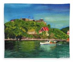 Fort George Grenada Fleece Blanket