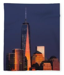 Freedom Tower Glow II Fleece Blanket