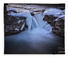 Frozen Splendor Fleece Blanket