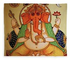 Spiritual India Fleece Blanket