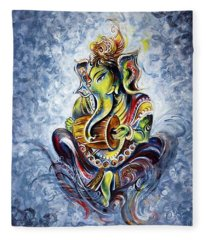 Musical Ganesha Fleece Blanket