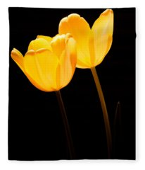 Glowing Tulips II Fleece Blanket
